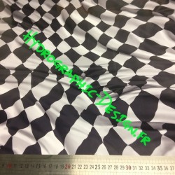 Film Hydrographic pour Hydro Dipping - Water Tranfer Printing Drapeau a Damier