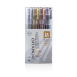 Pack marqueur ACRYLIC 0,7mm Metallic