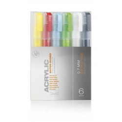 Pack marqueur ACRYLIC 0,7mm