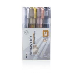 Pack marqueur ACRYLIC 2mm Metallic