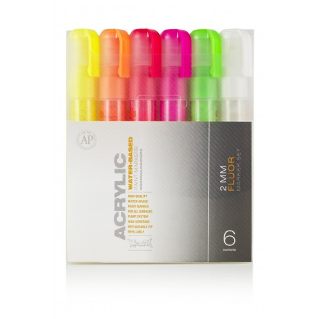Pack marqueur ACRYLIC 2mm FLUO