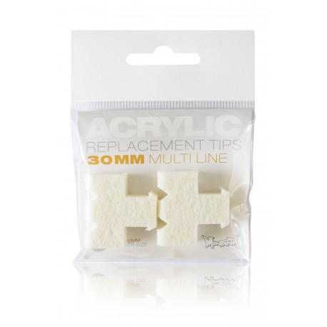Sachet de 2 mines Multi-Lignes pour MARQUEUR ACRYLIC 30mm
